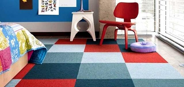 استفاده از موکت تایل در اتاق کودک | زت کارپت