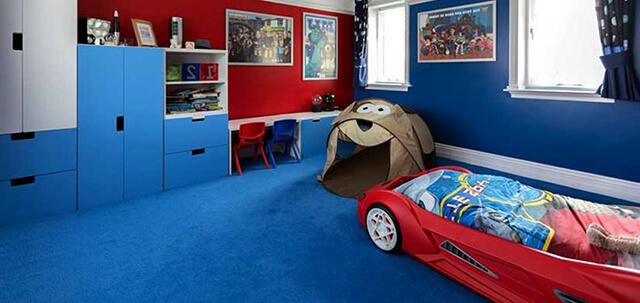 استفاده از موکت با رنگ های شاد در اتاق کودک | زت کارپت