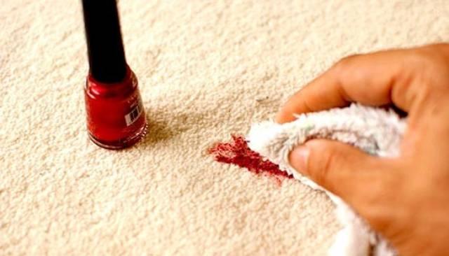 پاک کردن لکه لاک ناخن از روی موکت | شرکت زت کارپت
